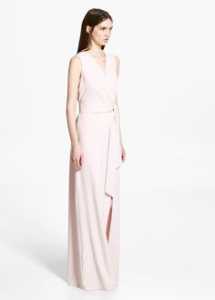 Wrapped gown - Dresses for Woman | MANGO