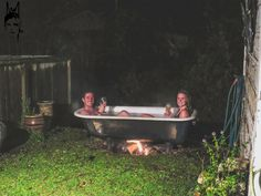 Outdoor Bath in Ohakune, New Zealand