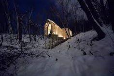 Wooden Forest Shelter by Hidemi Nishida.- Buscar con Google