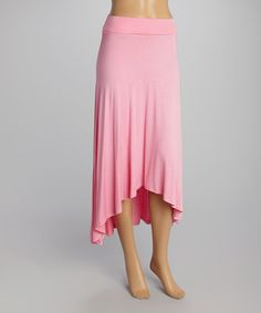 Look at this #zulilyfind! Cosmetic Pink Hi-Low Maxi Skirt #zulilyfinds