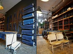 WOODEN STORE INTERIORS! Good Genes store, studio, showroom, Amsterdam store design