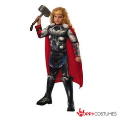 Kids Costume Inspiration: Blondes have more fun and now all the boys can be a blonde without feeling like a wuss - just check out this The Avengers Thor costume.
