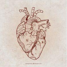 Hand drawn steampunk heart Free Vector