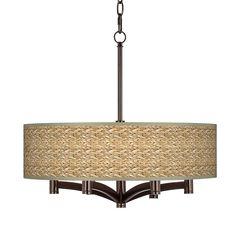 Laundry! Seagrass Ava 6-Light Bronze Pendant Chandelier - #X9844-Y7184 | Lamps Plus