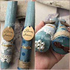 Blue Moon, Christening, Diy And Crafts, Easter, Candles, Decorations, Spring, Dekoration, Candy