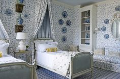 The Pink Pagoda: A Blue and White Bedroom For Everyone