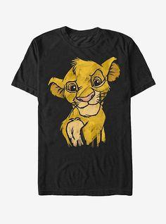 Lion King Juniors Simba Smirk Paint Splatter Print Cowl Neck Sweatshirt