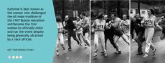 Kathrine Switzer - iconic photo of official attempting to remove her from race course 1967