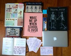"aariandthediamonds: Favorite school supplies! Featuring; • Typo 5 subject notebooks X 3 • Typo pencil cases X 2 • Staedtler highlighter set • My life, my bae, my MacBook Air 11"" • cue cards! • my lovely minimalistic planner. Today's motto: NO PROCASTINATION ""Don't watch the clock, do what it's doing, keep going""."