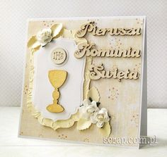Communion, Paper Crafts, Handmade Cards, Frame, Scrapbooking, Decor, First Holy Communion, Craft Cards, Picture Frame