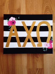 made this for my cousin a month ago!  alpha chi omega canvas