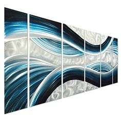 blue desire large metal wall art large modern sculpture decorative abstract artwork set