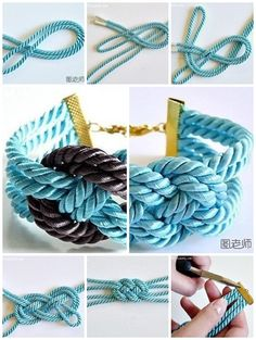 How to make colorful string bracelet step by step DIY instructions ♥ How to, how to make, step by step, picture tutorials, diy instructions, craft, do it yourself ❤