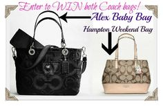 Coach bags!  Run to Rita's Reviews and you'll be totin' the coolest coaches ever!