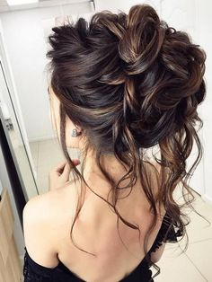 75 Chic Wedding Hair Updos for Elegant Brides Half-updo, Braids, Chongos Updo Wedding Hairstyles Easy Updos For Long Hair, Prom Hairstyles For Long Hair, Latest Hairstyles, Down Hairstyles, Braided Hairstyles, Teenage Hairstyles, Hairstyles Haircuts, Messy Wedding Hairstyles, Pretty Hairstyles