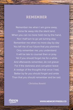 commentry on remember by christina rosetti Christina rossetti born: christina georgina  she is famous for writing goblin market and remember  a commentary on victorian gender roles and female.