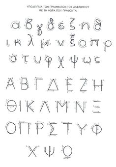 Learn how to write the letters of the Koine Greek Alphabet. Watch how the lower-case letters are written and get free Greek worksheets for handwriting practice. Teaching Time, Learning To Write, Writing Practice, Greek Font, Greek Words, Letter Activities, Writing Activities, Learn Greek, Folder Labels