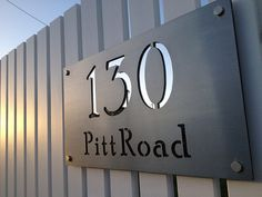 Stainless Steel Custom Made Laser Cut House Signs, Numbers and Plaques