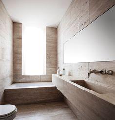 bathroom House tour: a classical apartment is given a minimalist makeover - Vogue Living Bathroom Furniture, Bathroom Interior, Modern Bathroom, Small Bathroom, Roman Bathroom, Antique Furniture, Neutral Bathroom, Bathrooms, Rustic Furniture