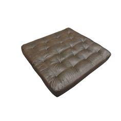 ViscoCoil II Leather Loveseat Futon Mattress (Brown - Foam/Faux Leather/Cotton - Innerspring/Memory Foam - Chair - 9 Inch)