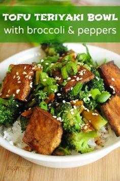 Vegan Tofu Teriyaki Bowl | Vegan Recipes from Cassie Howard