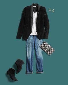 Coming in clutch: statement accessories. Fall Outfits, Casual Outfits, Cute Outfits, Basic Outfits, Casual Jeans, Stitch Fit, Vogue, Stitch Fix Outfits, Stitch Fix Stylist