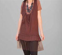 Tunic in Camaral/Layered dress/Cotton dress/Women by Danideng, $53.00