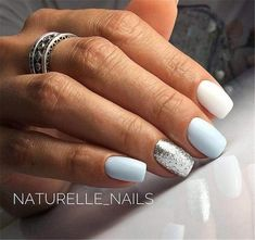 In look for some nail designs and ideas for your nails? Listed here is our set of must-try coffin acrylic nails for fashionable women. Square Acrylic Nails, Cute Acrylic Nails, Stylish Nails, Trendy Nails, Hair And Nails, My Nails, Blue Shellac Nails, Pastel Blue Nails, S And S Nails