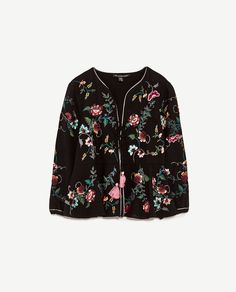 Image 8 of FLORAL EMBROIDERY JACKET from Zara