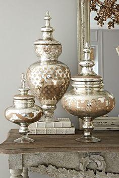 Bastia Apothecary Jar - Vintage Inspired Glass Jars, Mercury Glass Jars | Soft Surroundings
