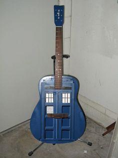 Doctor Who Tardis guitar Doctor Who Tardis, For Elise, Geek News, Smosh, Nerd Love, Custom Guitars, Torchwood, Geek Out, Dr Who