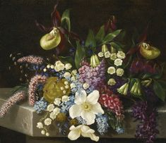 Adelheid Dietrich 1827 - 1891 FLORAL STILL LIFE