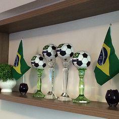 #brazil #flag #futebol #soccer #balls #party #worldcup #decor