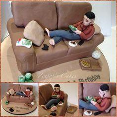 Birthday sofa 2! With tutorial - Cake by Zoepop