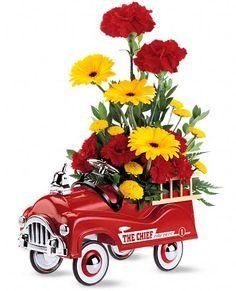 Teleflora's Fire Engine Bouquet Flowers... love it!!