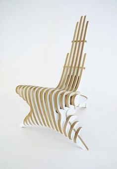 The Peak Lounge Chair by Peter Qvist Lorentsen is Conceptual Patio Furniture Makeover, Metal Patio Furniture, Bench Furniture, Furniture Styles, Plywood Furniture, Furniture Plans, Furniture Design, Compact Furniture, Furniture Buyers