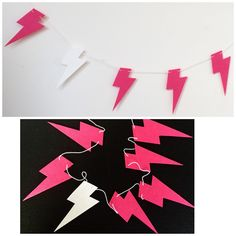 Lightning Bolt, Wall Hangings, Girl Room, Garland, My Etsy Shop, Girls, Pink, Daughters, Girl Rooms