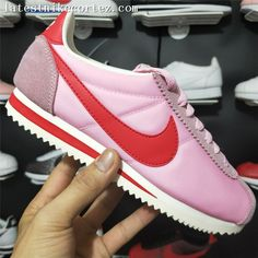 Fashion Nike Classic Cortez Girls Shoe Oxford Cloth Pink White