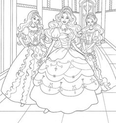sweet princess barbie with friends coloring pages - Barbie Friends Coloring Pages