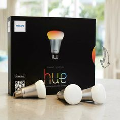 Philips has unveiled hue, a web-enabled LED home lighting system, sold exclusively via the Apple Store. Home Gadgets, Latest Gadgets, Tech Gadgets, Lighting System, Home Lighting, Bathroom Lighting, Philips Hue Lampe, Phillips Hue, Led Lamp