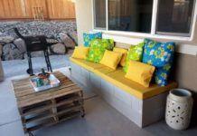Faça você mesmo: Banco de jardim com Blocos de concreto