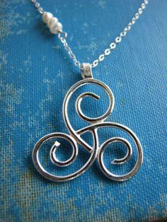 Triskele Maternity Necklace Triple Spiral by stacysdesigns88