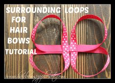 Surrounding Loops for Hair Bows Tutorial - This is used to make stacked hair bows and over the top hair bows - Super easy and no sew tutorial - Hairbow Supplies, Etc. Ribbon Hair Bows, Diy Hair Bows, Ribbon Flower, Fabric Flowers, Diy Halloween Hair Bows, Hair Bow Tutorial, Flower Tutorial, Stacked Hair, Making Hair Bows