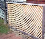 This is a lattice fence.  Could use the mini lattice to give you some privacy around the patio area.