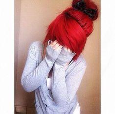 Bright fashion red hair