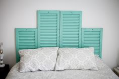 DIY Vintage Shutter Head Board, I have some old bifold doors that I'm going to use for this!