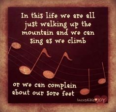 Sing or complain