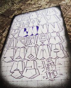 No photo description available. Graffiti Lettering Alphabet, Graffiti Text, Tattoo Fonts Alphabet, Chicano Lettering, Graffiti Words, Graffiti Tattoo, Graffiti Drawing, Hand Lettering, Graffiti Artists