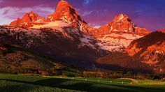 USA Wyoming Grand Teton National Park summer sunset scenery - High Definition Wallpapers - HD wallpapers