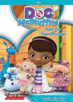 Disney Junior's hit animated TV series about a nurturing 6-year-old girl offers up a delightful DVD in Doc McStuffins: Time For Your Check-Up. The perfect addition to your family viewing collection includes five feel-good episodes and a free growth chart. Bring Doc, Stuffy, Lambie, and the rest of their friends home on DVD today.